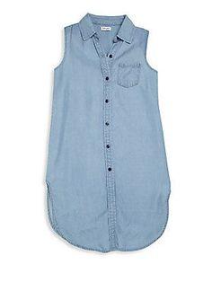 Splendid Girl's Tencel Denim Tunic - Chambray - Size 1