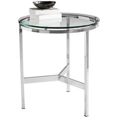 Flato Clear Tempered Glass Round Accent Table - #2J952 | LampsPlus.com