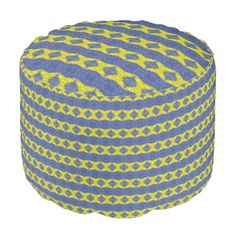 A colorful and trendy pattern the give the product a stylish and modern looks with this decorative and abstract looks. Yellow and blue vertical pattern. You can also customize it to get a more personal look. Ottoman Design, Poufs, Abstract Pattern, Blue Yellow, Colorful, Shapes, Texture, Stylish, Unique