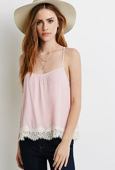 Crisscross Lace-Trimmed Cami | Forever 21 - 2002247851