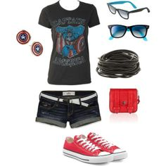 Captain America Outfit except not the bag or earings