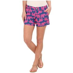 Lilly Pulitzer Callahan Short Women's Shorts ($64) ❤ liked on Polyvore featuring shorts, lilly pulitzer, short shorts, flat front shorts, zipper shorts and beach shorts