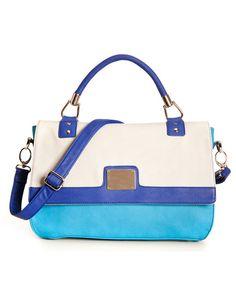 blue & white handbag