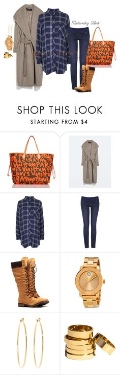 """""""Untitled #2986"""" by stylebydnicole ❤ liked on Polyvore featuring Louis Vuitton, Zara, Topshop, Movado, Brooks Brothers and H&M"""