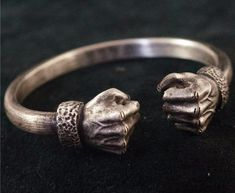 "ACROW ~ ""Power Fist"" Silver Bracelet"