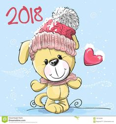 Cute Cartoon Puppy In A Knitted Cap - Download From Over 68 Million High Quality Stock Photos, Images, Vectors. Sign up for FREE today. Image: 100735283