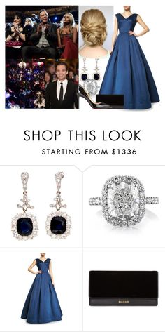 """Attending the 2010 BAFTA Film Awards with Thomas"" by alexandraofwales ❤ liked on Polyvore featuring Zac Posen, Sebastian Professional, Balmain and Christian Louboutin"