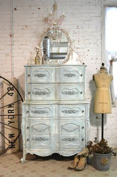 Painted Cottage Chic Shabby French Dresser by paintedcottages, $595.00
