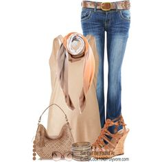 Jeans and Top by cindycook10, via Polyvore