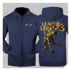 Viktor League of Legends sweatshirt for men fleece zip hooies for men