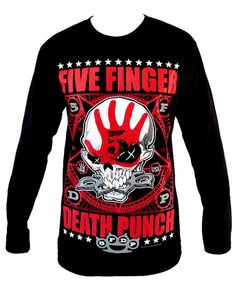 Five Finger Death Punch Long Sleeve T Shirt Size by TheRockShirts