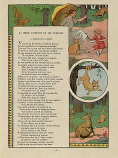 Fables de Florian illustrees par Benjamin Rabier, 1936 (La Mere, L'Enfant et les Sarigues) by peacay, via Flickr