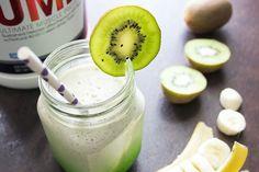 HIGH PROTEIN LUNCH Recipe: Kiwi Banana Protein Smoothie