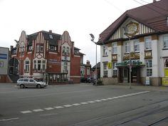 Nordhausen, Bahnhofsplatz mit HSB Bahnhof
