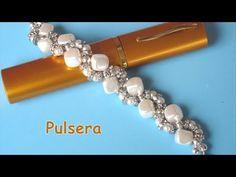 DIY - pulsera de perlas cubo, y separadores DIY - cube pearl bracelet, and spacers - YouTube
