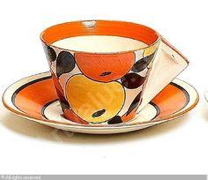 CLIFF Clarice,'Oranges and Lemons' teacup and saucer,Bonhams,London