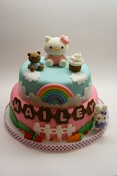 Hello Kitty Cake - really cute details! Now that is a cake!