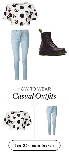 """Casual"" by antoniettaparry on Polyvore featuring Frame Denim, Être Cécile and Dr. Martens"