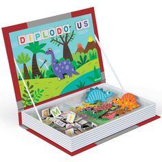magneetboek dino's janod | ilovespeelgoed.nl