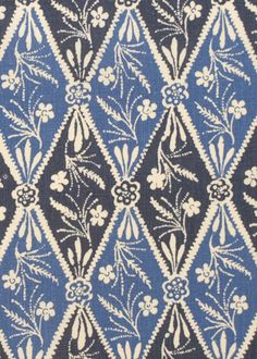 PERFECT for headboard - Collection:Batik Pattern: Diamond Style No: 2941 Color: Indigo Content: linen Width: 54 in Repeat: 28 in Textiles, Textile Prints, Textile Patterns, Textile Design, Blue And White Fabric, White Fabrics, Indigo, Batik Pattern, Graphic Design Print