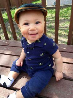 Present from Titi. #favoriteaunt #nephew #realmccoy #jrbabyhatter  http://www.juniorbabyhatter.us/