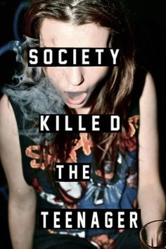 This picture and the word teenager should not go together. Teens, yes, you are young and wild (?) and you can have fun but fun can be had without smoking, drinking, and partying.