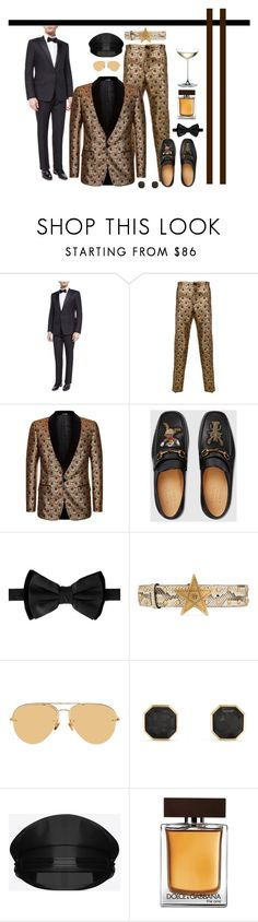 """""""Untitled #5110"""" by barones-tania ❤ liked on Polyvore featuring Dolce&Gabbana, Gucci, Dsquared2, Linda Farrow, David Yurman, Yves Saint Laurent, Frontgate, men's fashion and menswear"""
