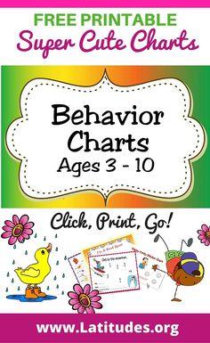 Age Appropriate Behavior Chart