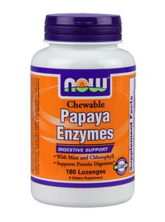 NOW Papaya Enzyme | Whole Health- a digestive formula containing enzymes responsible for breaking foods down into nutrients that the body can use and encourages proper absorption