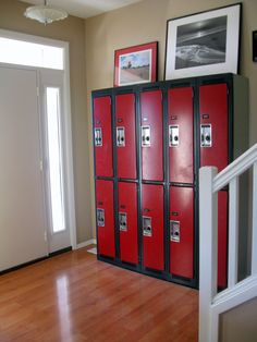 have got to find some old lockers for storage of all the kids stuff!