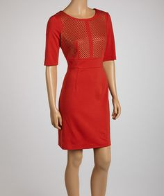Look what I found on #zulily! Rust Studded Sheath Dress by Luxology #zulilyfinds