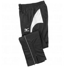 Mizuno Women's Team III Tall Warm-Up Pants by Mizuno. $43.68. 100% Polyester tricot construction features D.F. Cut technology for superior durability, comfort, and range of motion. Drylite moisture management. Brushed interior for improved comfort. Two front side pockets. Drawcord waist. Zippered legs.