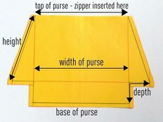 A Tutorial: How to Draft a Pattern and Make a Zippered Purse with a Flat Bottom