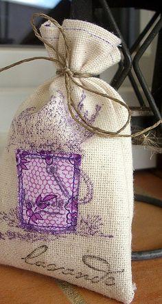 Love making my own lavender bags!  Plenty in the garden!