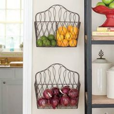 magazine racks for fruits and vegetable storage! you'll need to scroll down in my blog (sorry, im a new blogger LOL Im still learning how it works :D)