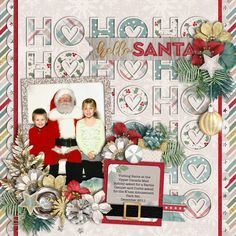 Used the following from the Sweet Shoppe: Template - Christmas Single 21: Hello Santa by Cindy Schneider Believe in Magic: White Christmas Collection by Studio Flergs and Amber Shaw