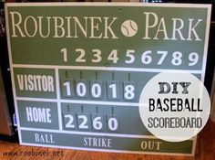 Sports Scoreboard Custom Rustic Board Sign By MyRusticBoardSigns 25000