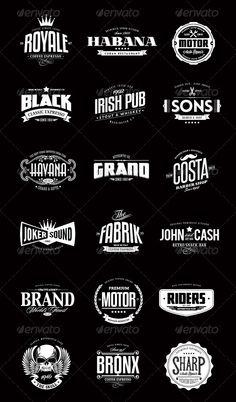 Typographic logo sets