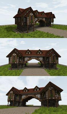 Casa Medieval Minecraft, Minecraft House Plans, Minecraft Cottage, Minecraft Mansion, Cute Minecraft Houses, Minecraft House Tutorials, Minecraft Castle, Amazing Minecraft, Minecraft Blueprints