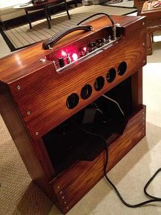 Sp I'm thinking of building a BFPR. I've done tolex and tweed, so I'm thinking of just going with bare wood this time. Diy Guitar Amp, Handmade Cabinets, Valve Amplifier, Telecaster Guitar, Guitar Building, Wood Projects, Liquor Cabinet, Let It Be, Guitars