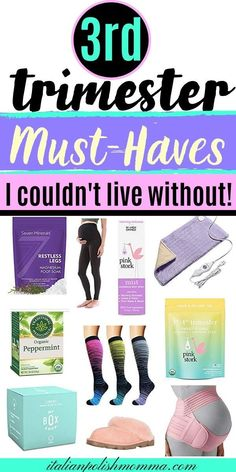 Third trimester essentials! Here are 3rd trimester pregnancy products that helped me survive through all 4 of my pregnancies! These pregnancy must-haves will help moms with fatigue, pregnancy leg cramps, feeling so uncomfortable, and so much more! #pregnancy #pregnancytips #thridtrimester #trimesters #pregnancymusthaves Pregnancy Leg Cramps, Trimesters Of Pregnancy, Pregnancy Chart, Pregnancy First Trimester, Pregnancy Months, 4th Trimester, Pregnancy Must Haves, Pregnancy Advice, Pregnancy Health