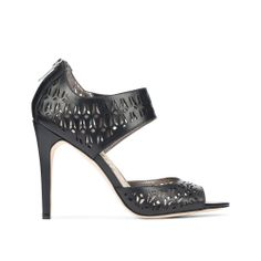 black laser cut high heels x sam edelman