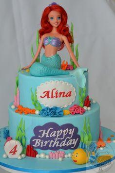 Ariel the mermaid birthday cake