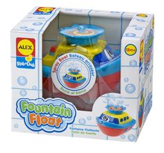 This little Fountain Boat really knows how to liven up a bath! Just drop it into the water and watch it spin, float, and spray. #ALEXToys