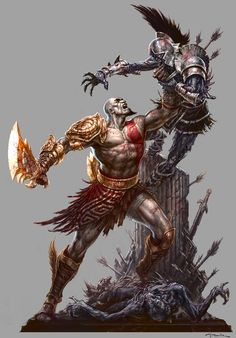 Artwork by Andy Park from the God of War III show.  http://gnomongallery.com/shows/2010/god-of-war-3/index.php