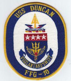 80s USS DUNCAN FFG-10 patch