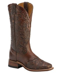 """And I am definitely adding these to my """"If I were a millionaire I'd buy this"""" wish list- Thanks Western Glamour for the link! Boulet Tooled Ranger Cowgirl Boots - Square Toe"""
