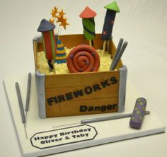 Box Of #Fireworks #Cake