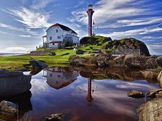 Cape Forchu Lightstation by Kathy Weaver  The Cape Forchu Lightstation at Yarmouth, Nova Scotia in Canada.