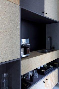 pocket gallery surface brute fluide en attente transformé en gallerie bureau par l'agence d'archi premier etage